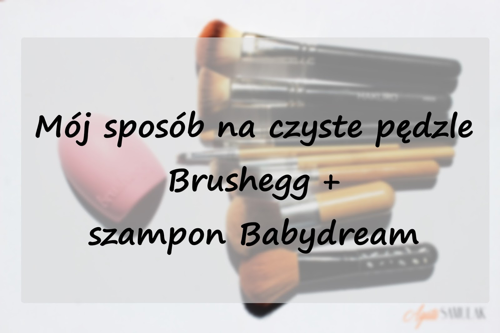 Mój sposób na czyste pędzle - Brushegg + szampon Babydream