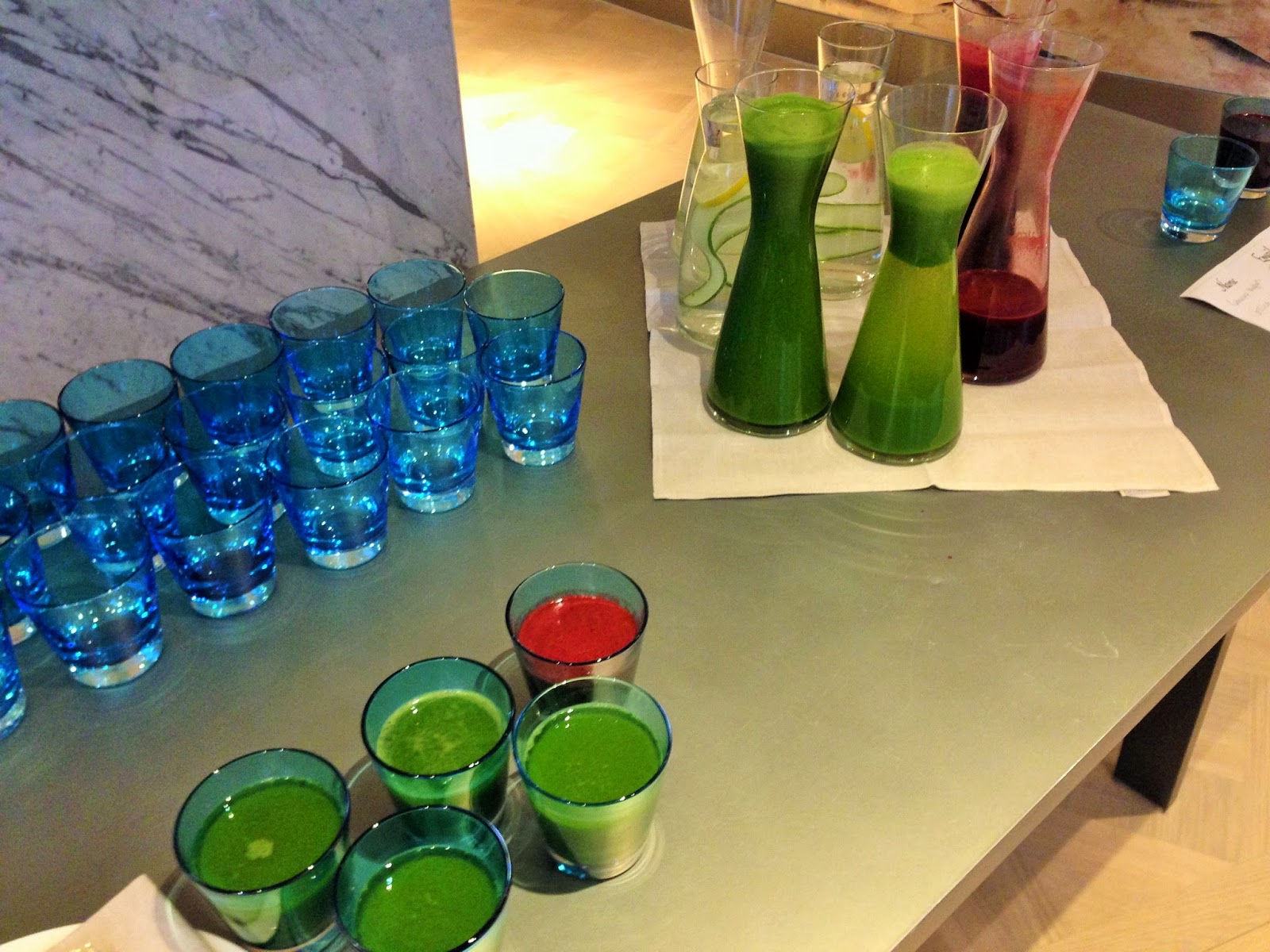 Superfood smoothies at London Fashion Week
