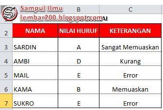 Cara Menggunakan Rumus HLOOKUP Di Ms.Excel