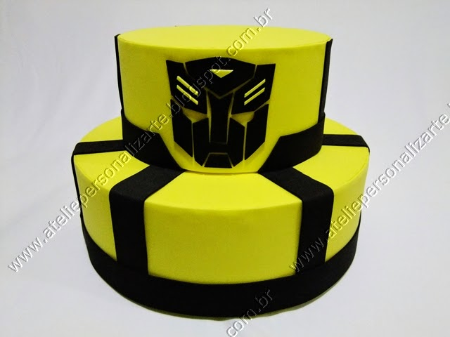 bolo cenográfico transformers bumblebee