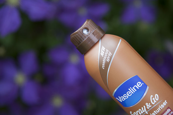 Vaseline Spray & Go Body Moisturiser Boots Cocoa Radiant Aloe Fresh Essential Moisture