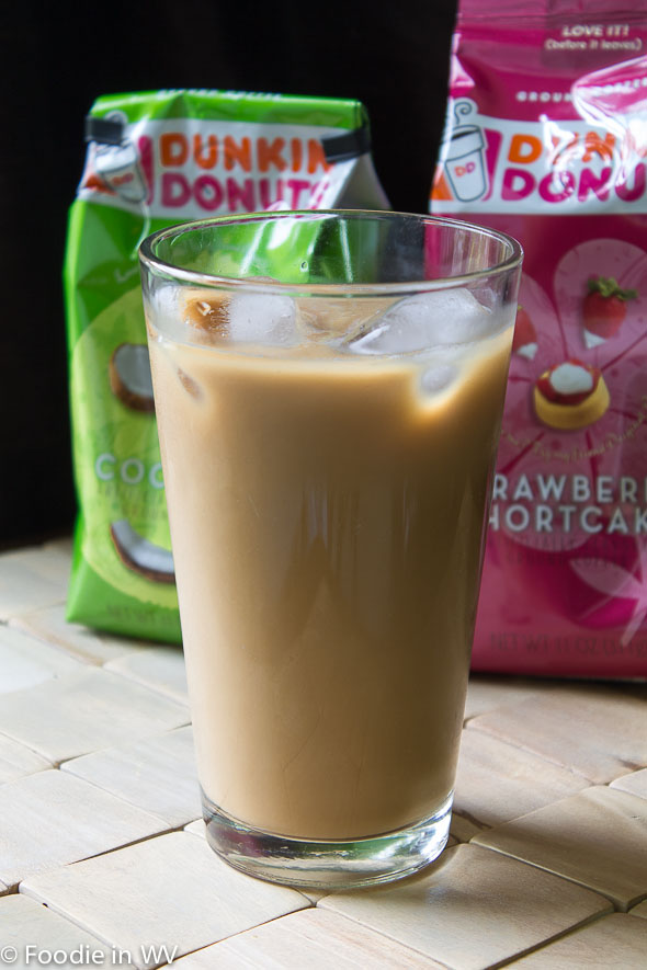 Click for Recipe for Dunkin Donuts Coconut Iced Coffee