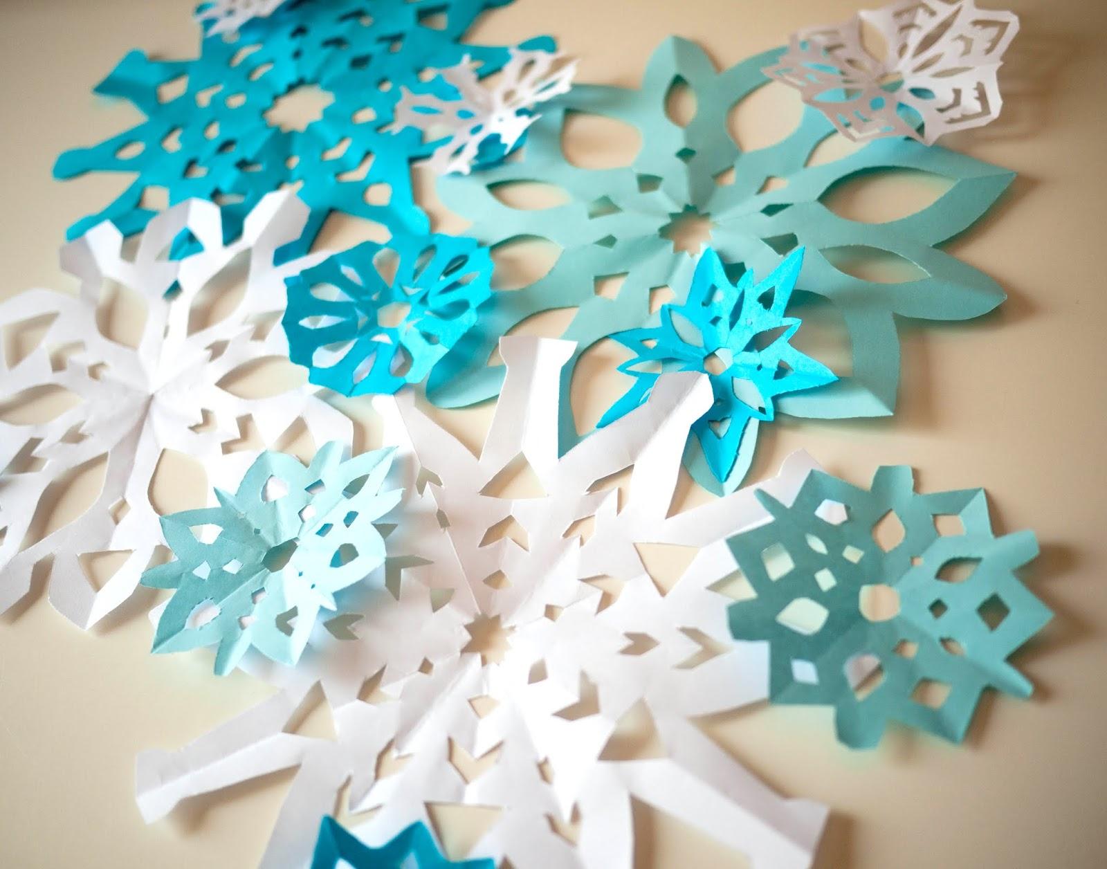 No sin mis hijos manualidad de copos de nieve de papel - Copos de nieve manualidades ...