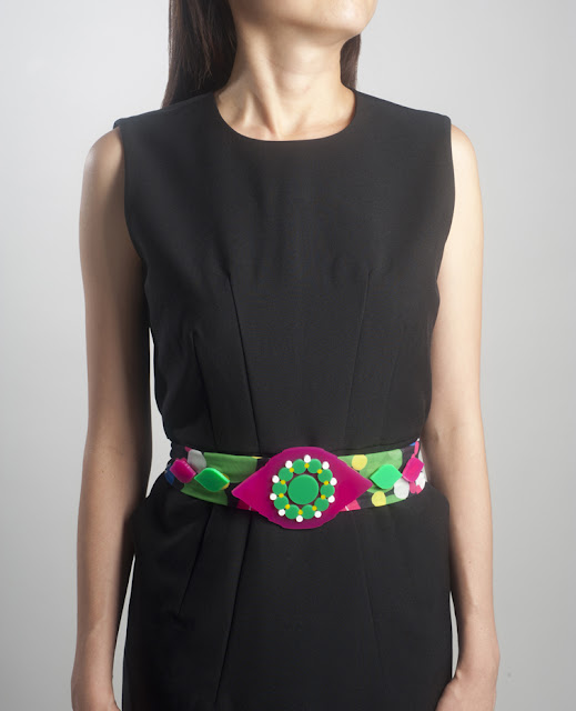 Diana Tang's colourful Pending belt inspired by the collection at the Asian Civilisations Museum