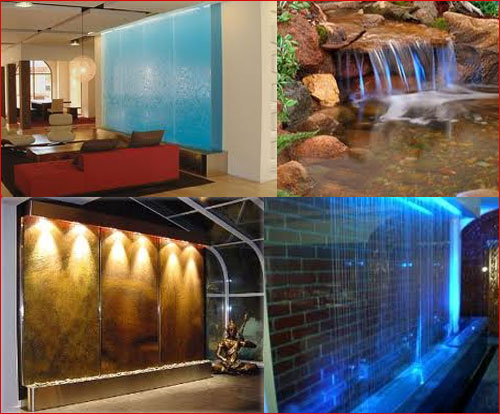 Pick of the week in glass indoor outdoor waterfalls for Glass waterfall design
