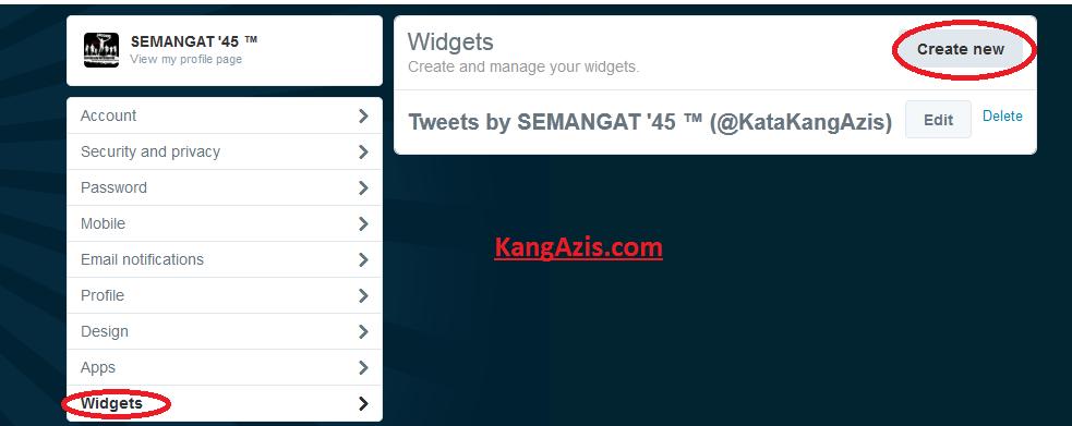 Cara Memberi Widget Twitter di blog
