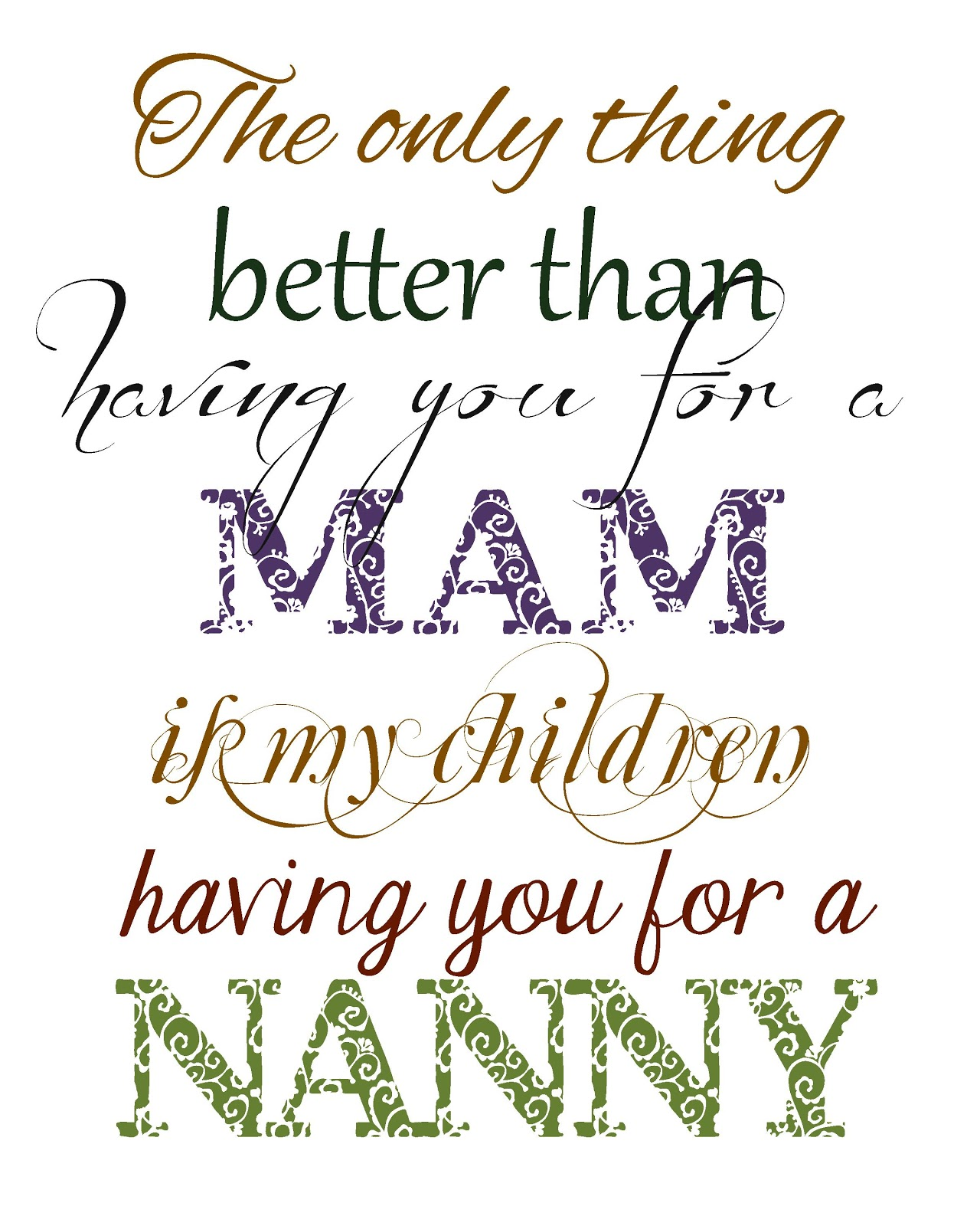 Nanny Quotes And Poems. QuotesGram