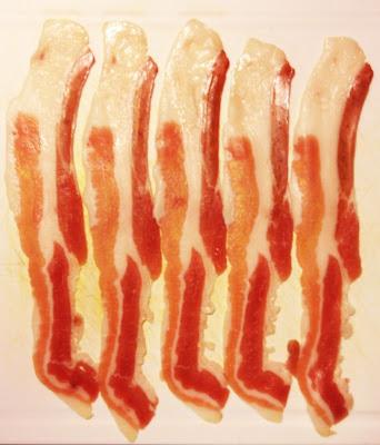 streaky bacon rashers