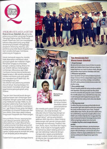 Pemandu Pelancong - KAIO DI Majalah Aniqah