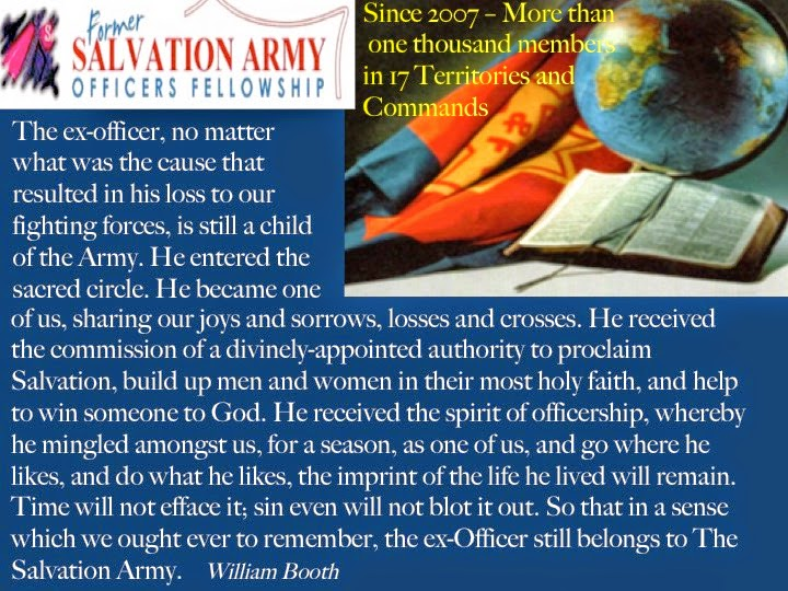 FORMER SALVATION ARMY OFFICERS FELLOWSHIP