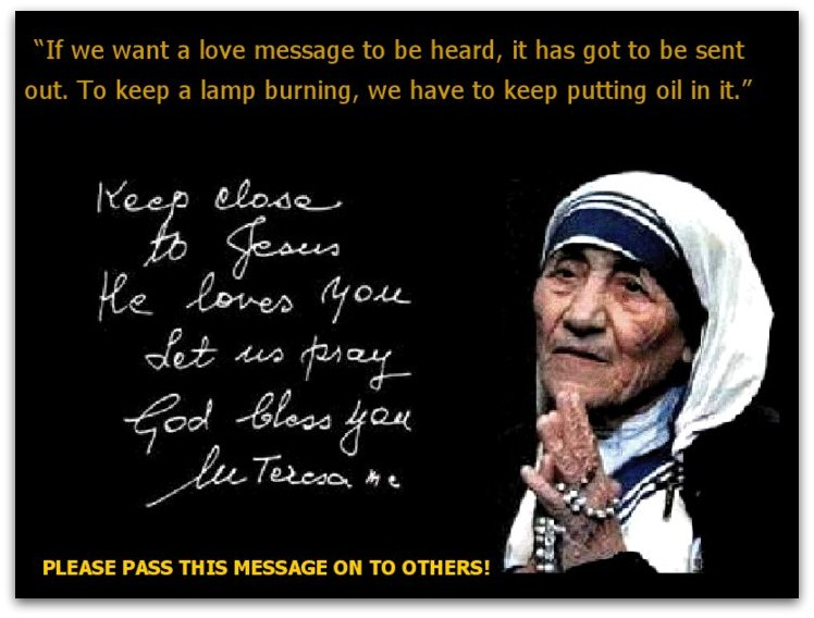 words to describe mother teresa