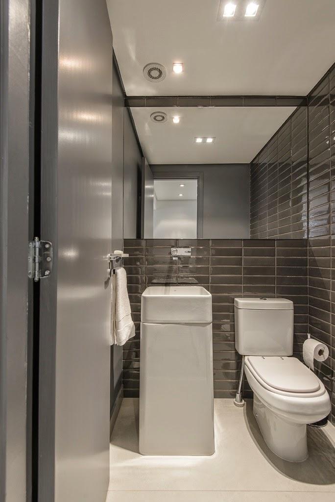 Cubas de piso – veja 20 banheiros e lavabos com essa tendência + dicas!  Dec -> Cuba Para Banheiro Cinza
