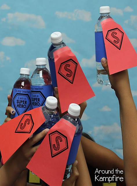 Super Hero Award Ceremony with water bottle trophies