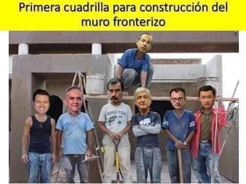 SUPER TRABAJADORES QUE CONSTRUIRAN EL MURO