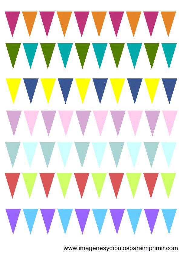 Guirnaldas de cumpleaños para imprimir