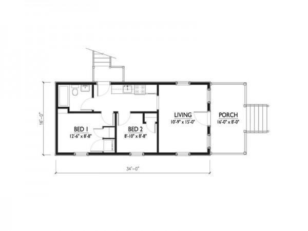 Proyecto de casa habitaci n en terreno de 50 metros for 50 foot wide house plans