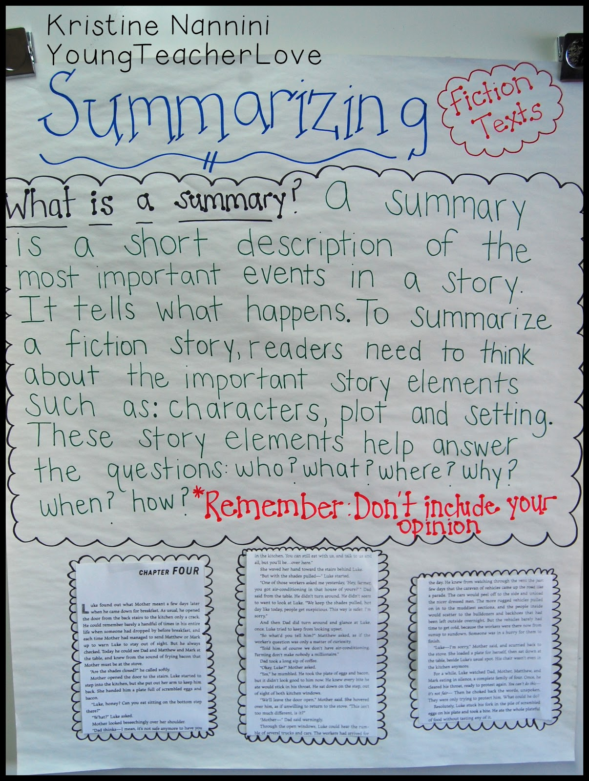 writing a summary graphic organizer