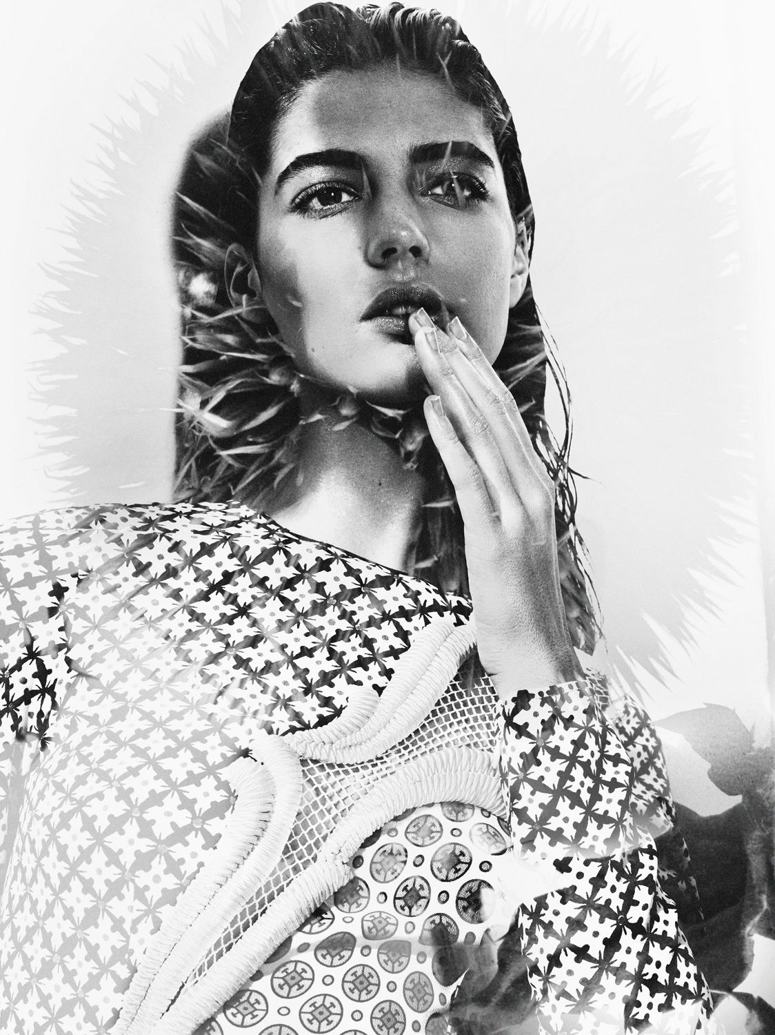 Katryn Kruger in Interview Magazine April 2012 by Craig McDean