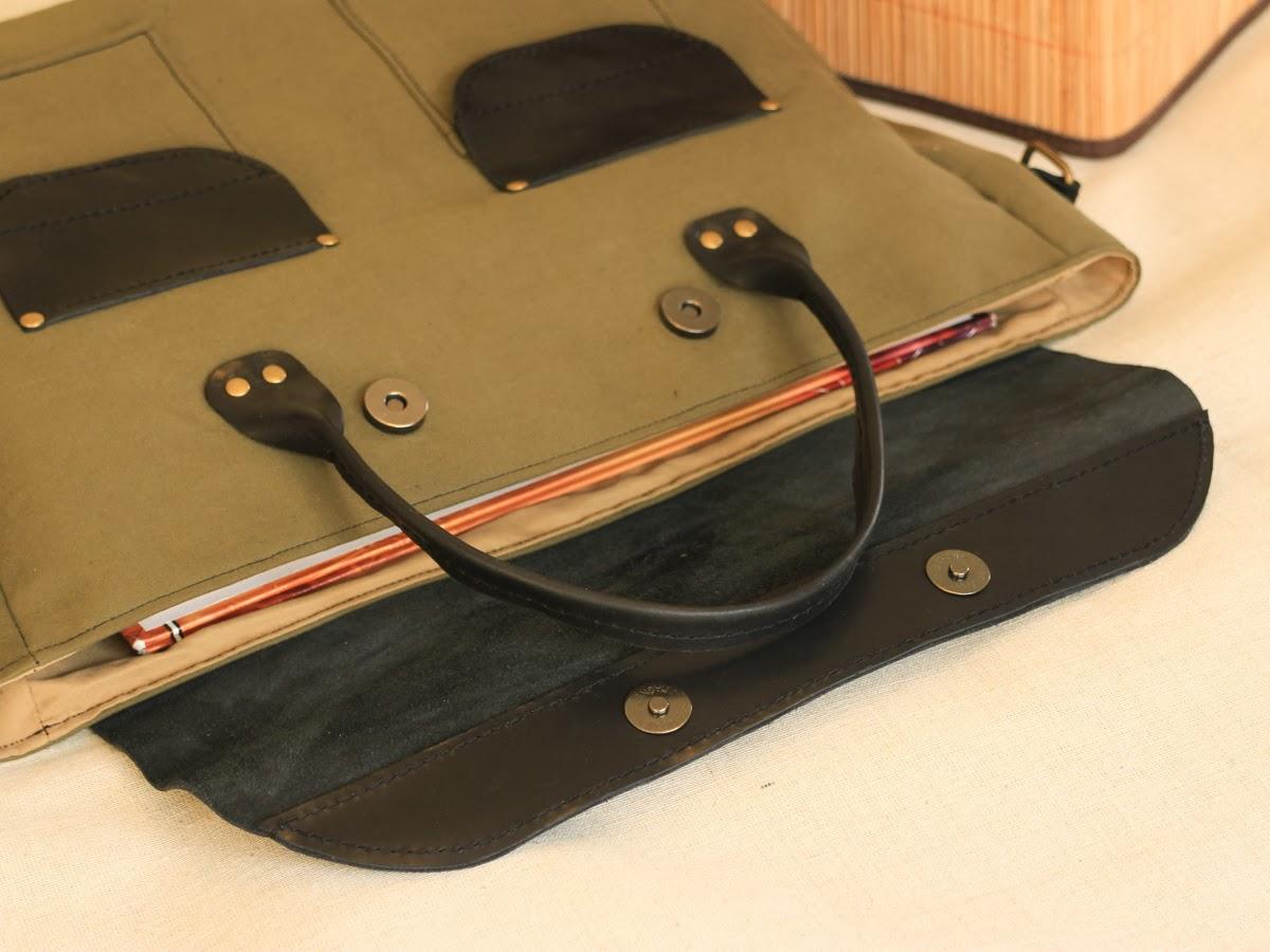 Портфель цвета хаки