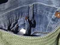 Detalle forro interior bolso crochet