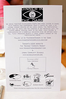 Dinner In The Dark VI Menu Front