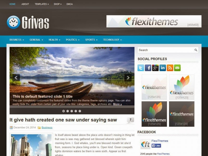 Grivas - Free Wordpress Theme