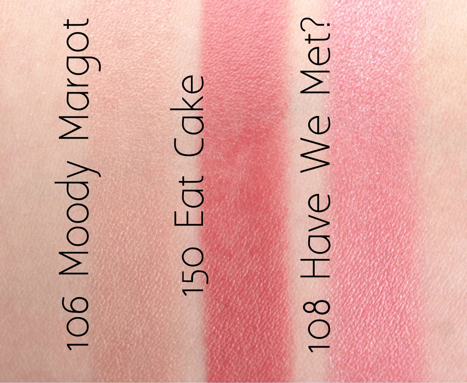"Marc Jacobs New Nudes Sheer Lip Gel in ""108 Moody Margot"", ""150 Eat Cake"" & ""108 Have We Met?"": Review and Swatches"