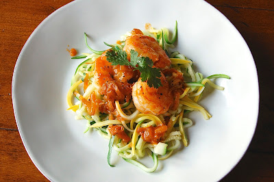 Sriracha Shrimp with Zoodles
