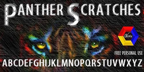 Panther Scratches - Free Font Personal Use