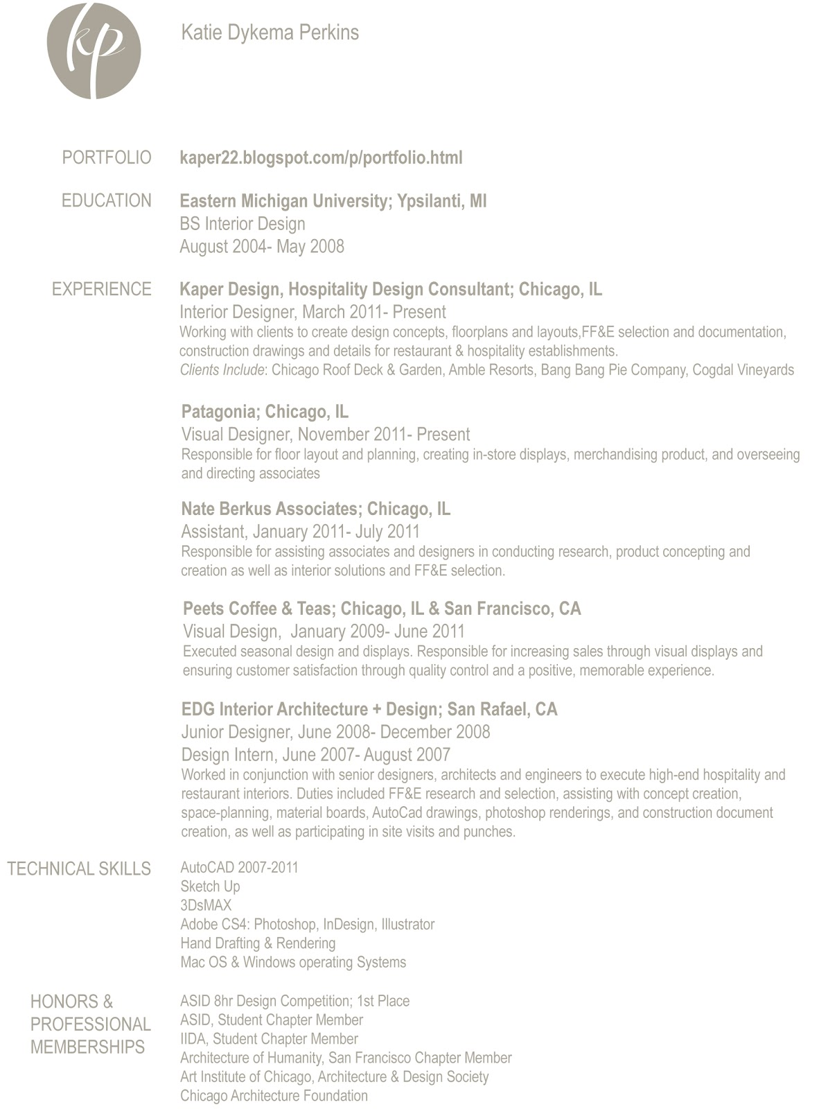Interior Design Resume Template We Provide As Reference To Make Correct Pinterest