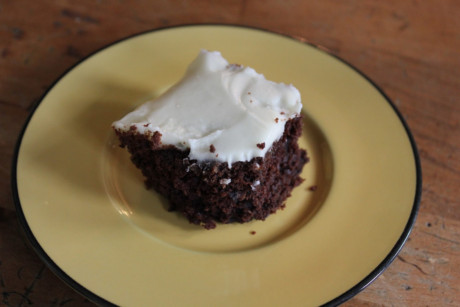 Whisked Away: Chocolate Zucchini Cake with Cream Cheese ...