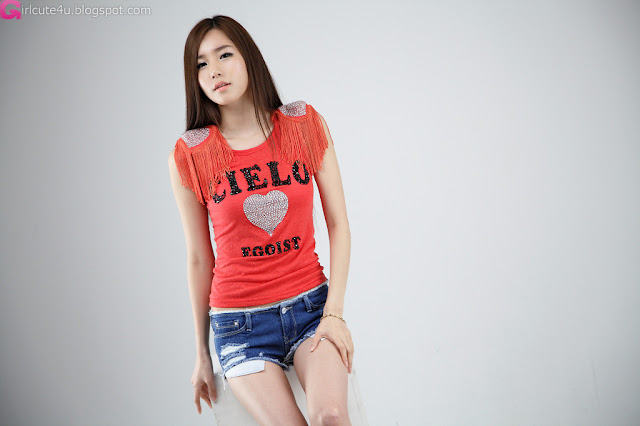 5 Lee Ji Min - Red Top-very cute asian girl-girlcute4u.blogspot.com