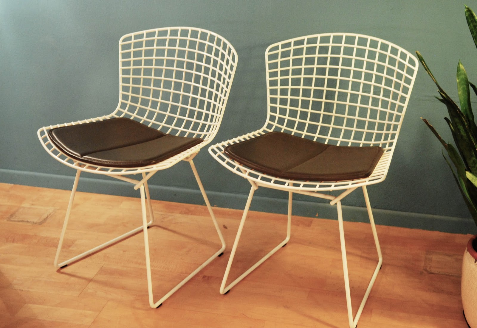 Affordable Paire De Chaises Harry Bertoia Knoll With Chaise Occasion