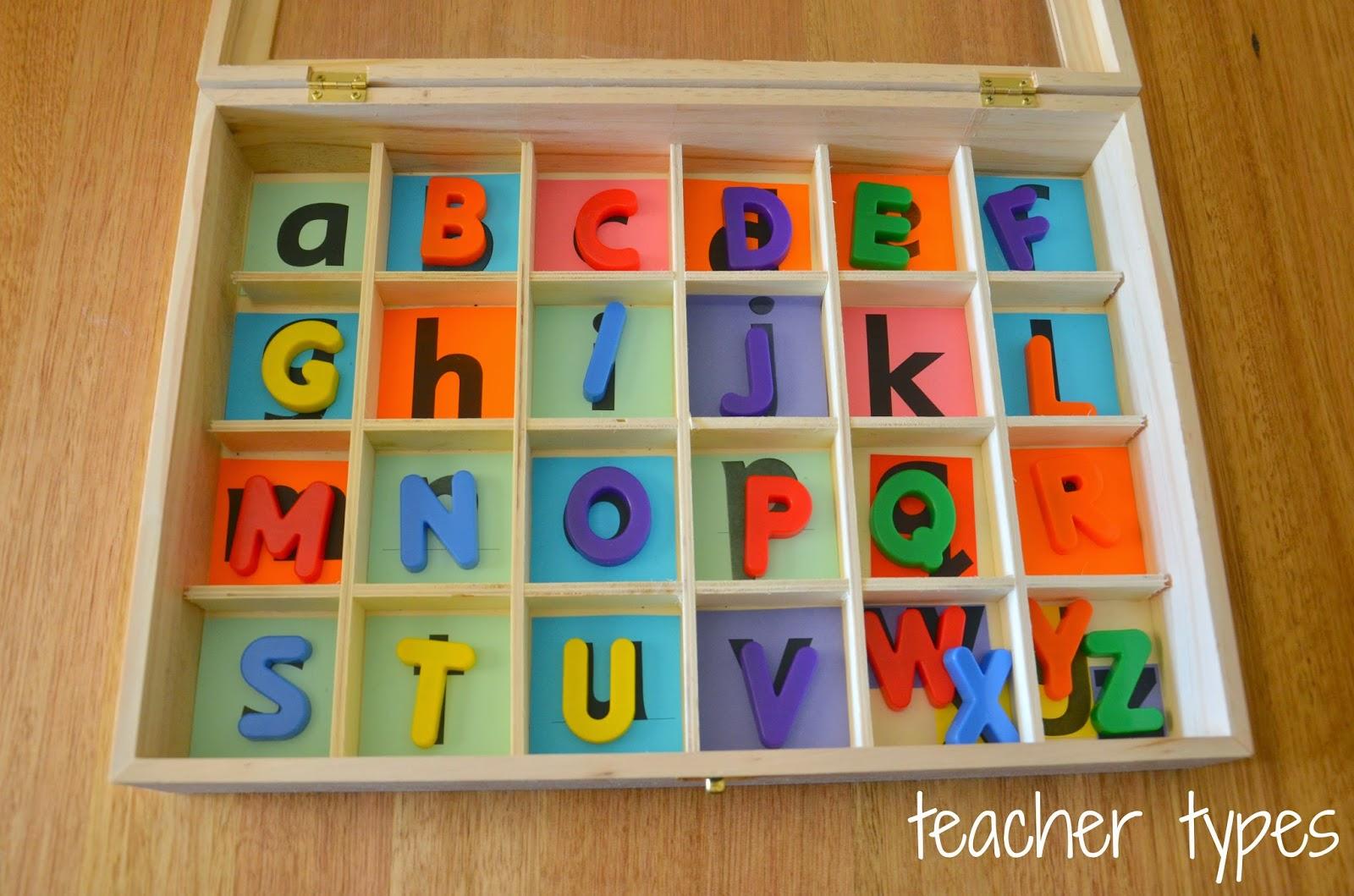 Capital Case Letters Montessori Lesson