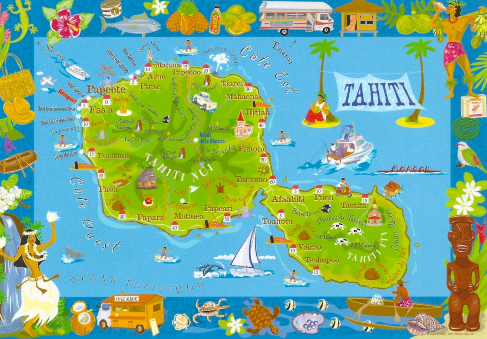 My favorite views french polynesia tahiti map of the island french polynesia tahiti map of the island gumiabroncs Image collections