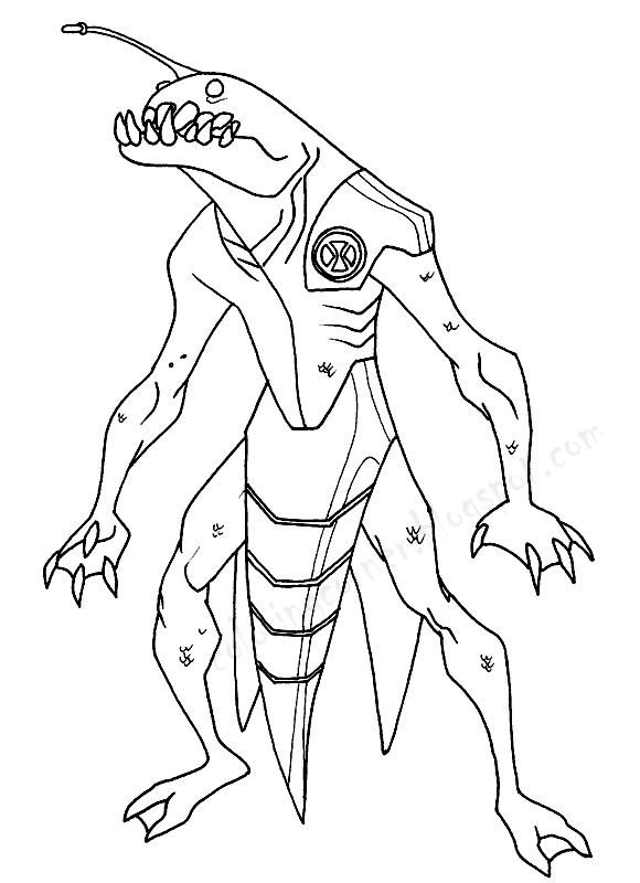 Ben 10 Coloring Pages Ben 10 Coloring Pages