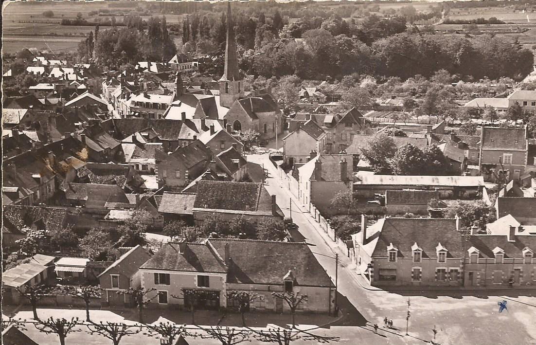 Cour-Cheverny - Vue aérienne