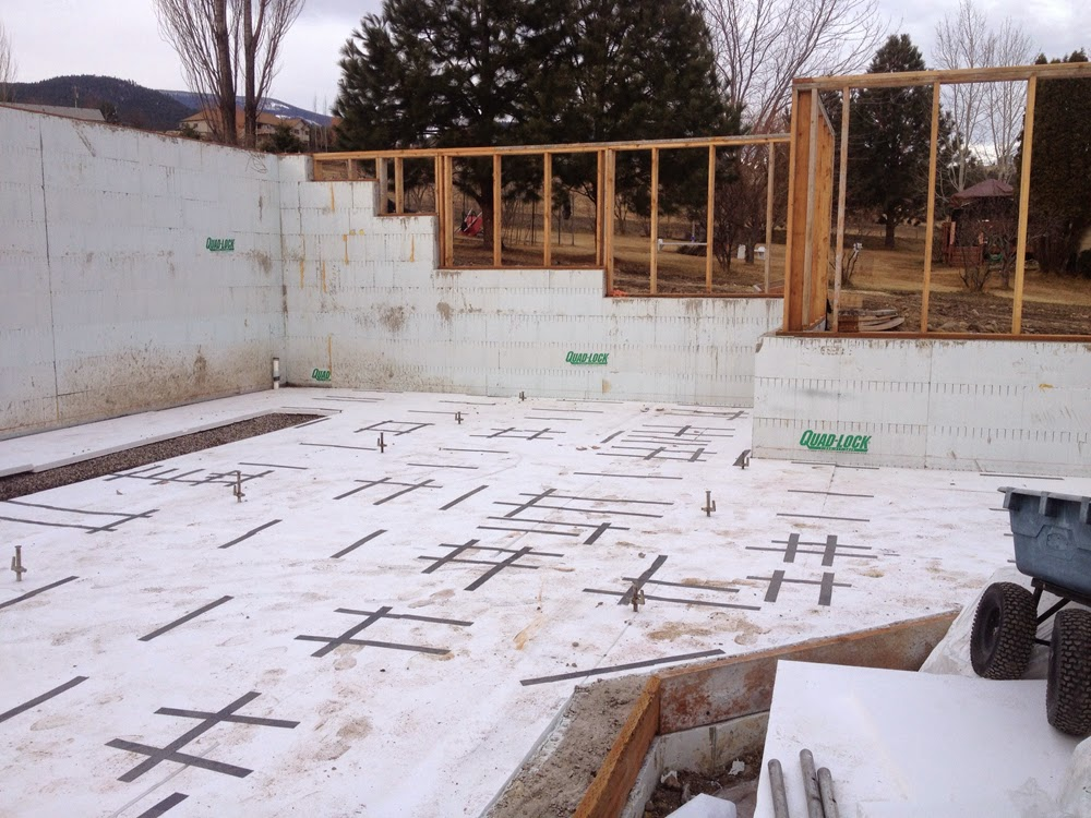 The styrofoam and eps blog eps insulation projects for Insulating basement floor before pouring