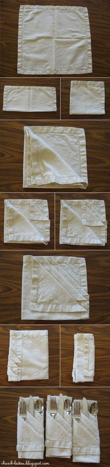 DIY : French Pleated Napkin Fold
