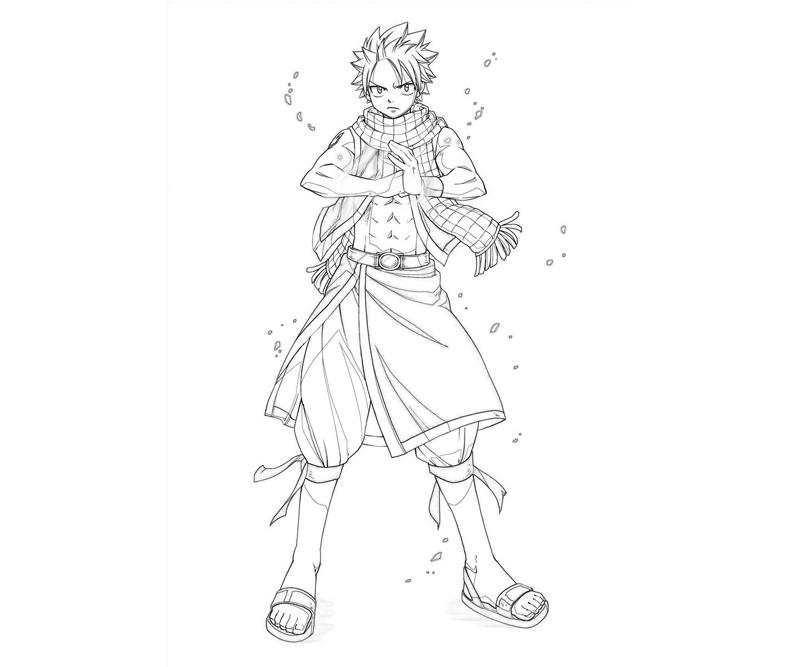 Fairy Tail Natsu Fight How Coloring