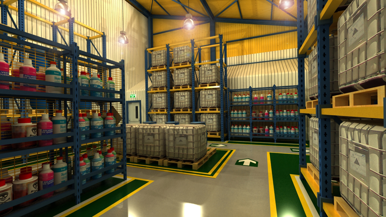 3d proyectual agosto 2013 for Bodegas para jardin chile