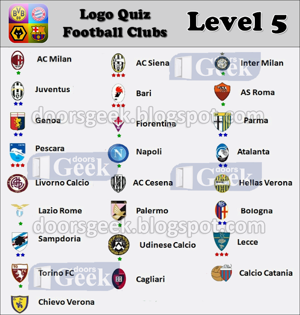 Logo Quiz Football Clubs Answers Italy - Game Solver