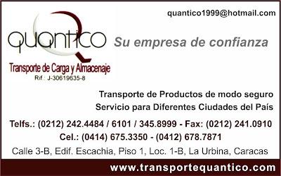 QUANTICO TRANSPORTE DE CARGA Y ALMACENAJE en Paginas Amarillas tu guia Comercial