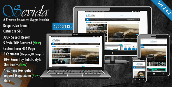 Download - Sevida 2.4.2 - Responsive Magazine Blogger Template
