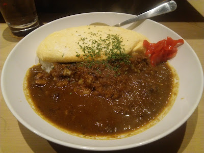 Omelette and Curry-and-rice at Satsuma, Kanda, Tokyo, Japan
