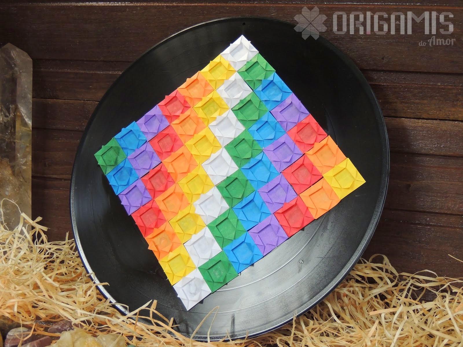 Wiphala de Origami em Vinil