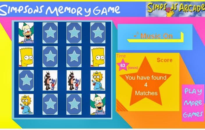 Memoria de los Simpson  Juegos de los simpsons