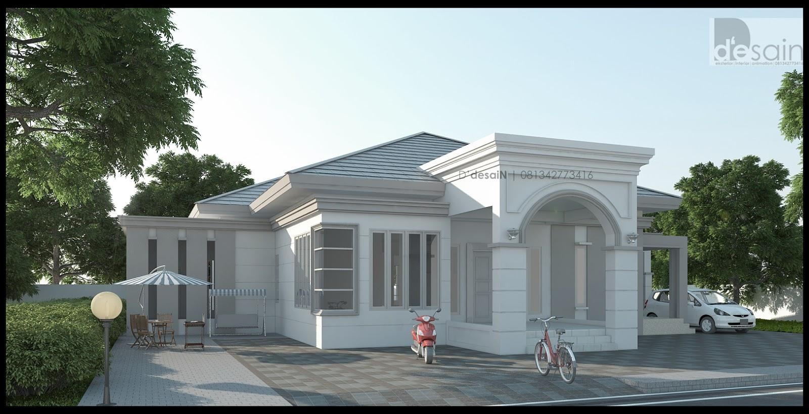 Desain rumah bergaya mediterania modern milik Mr.Mastur di Wakatobi