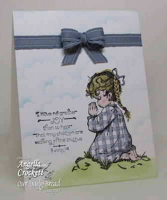 "ODBD ""Precios Girl"", ""Gingham Background"" Card Designer Angie Crockett"