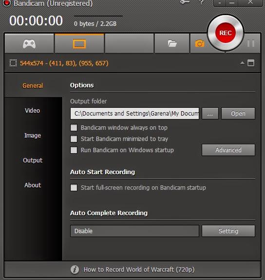 Phần mềm quay phim màn hình Bandicam 2.1.0.707 free
